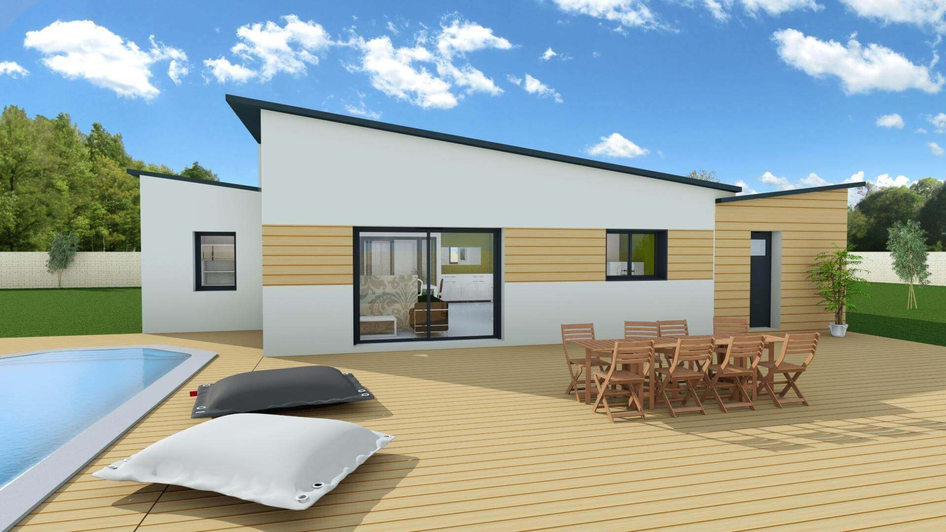 Maison contemporaine 3 chambres sans garage mtc for Constructeur maisons contemporaines